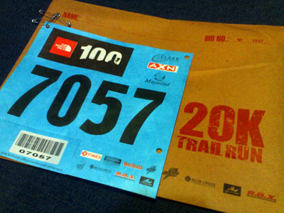 North Face Trail Run in Sacobia, Pampanga - Bib Number