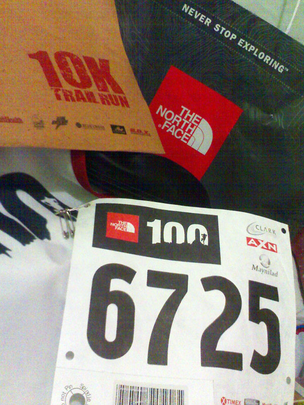 North Face 10KM Trail Run - Bib Number